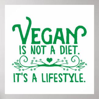 Le végétalien n'est pas un régime affiche