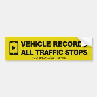 Le véhicule enregistre tous les autocollants autocollant pour voiture