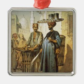 """Le vendeur de thé, du """"souvenir du Caire"""", 1862 Ornement Carré Argenté"""