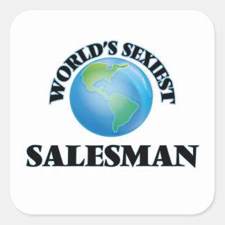 Le vendeur le plus sexy du monde sticker carré