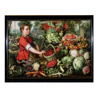 Le vendeur végétal carte postale