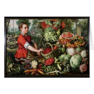 Le vendeur végétal cartes