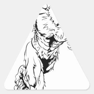 Le verrat folâtre le fonctionnement de mascotte sticker triangulaire