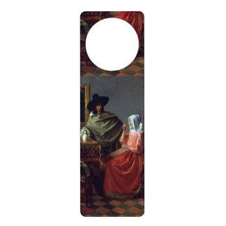 Le verre de vin par Johannes Vermeer Affichettes De Porte