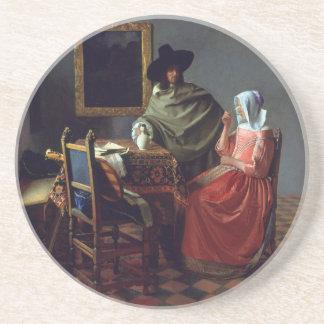 Le verre de vin par Johannes Vermeer Dessous De Verres