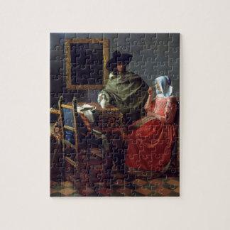 Le verre de vin par Johannes Vermeer Puzzles