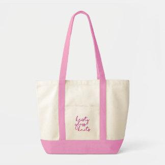 Le verre rose de Kristy tricote le sac fourre-tout