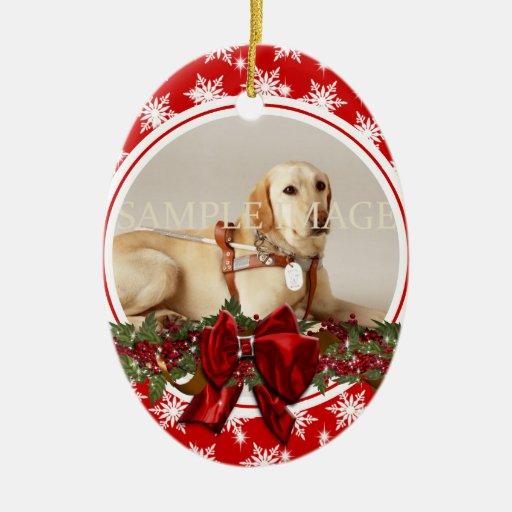 Le vers commémoratif de photo d'animal familier PE Décorations De Noël