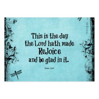 Le vers de bible ceci est le jour où le hath de carte de visite grand ...