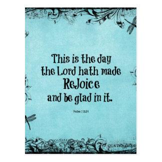 Le vers de bible ceci est le jour où le hath de cartes postales
