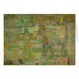 Le vert aiment la carte de voeux de Klee