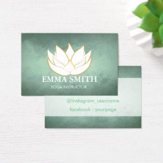 Le vert bleu de fleur de Lotus détendent le carte