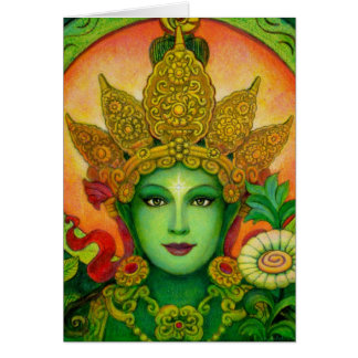 Le vert bouddhiste tibétain Tara de déesse font Carte De Vœux