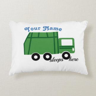 Le vert de camion à ordures a personnalisé - le coussins décoratifs