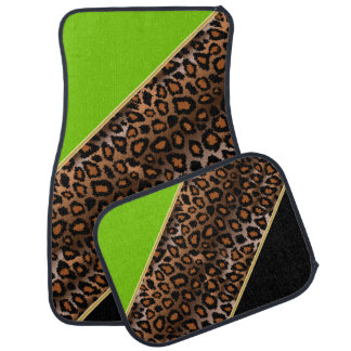 Le vert de chaux du poster de animal | de Jaguar | Tapis De Sol