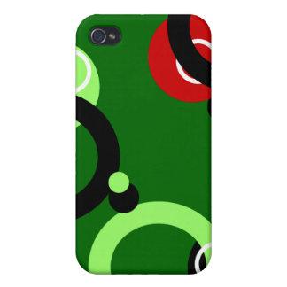 Le vert entoure le cas de l'iPhone 4 Coques iPhone 4