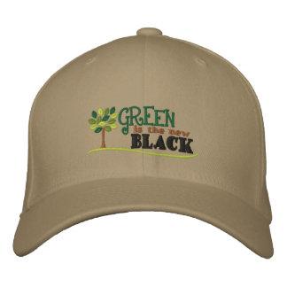 Le vert est nouveau noir casquette brodée