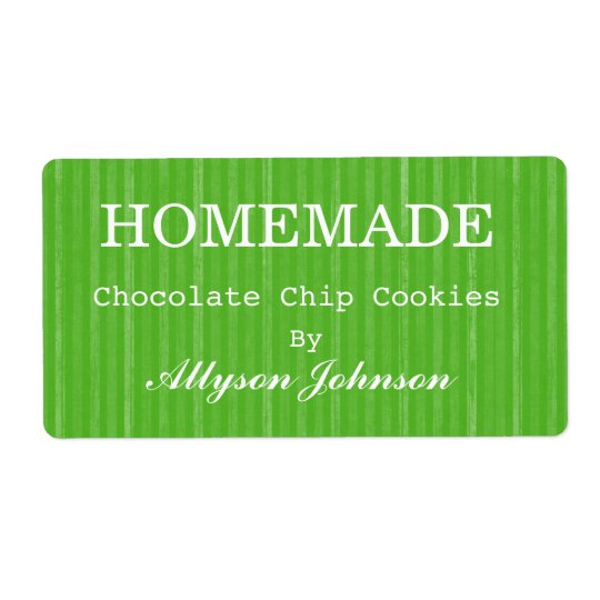 Le vert fait maison de cuisine barre des étiquette