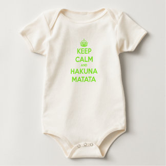 Le vert gardent le calme et le Hakuna Matata Body
