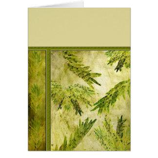 Le vert laisse le blanc botanique cartes de vœux