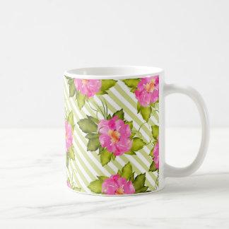 Le vert tropical de fleur barre la tasse