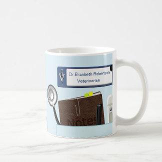 Le vétérinaire personnalisé frotte bleu-clair mug