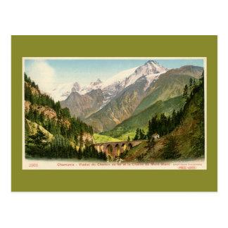 Le viaduc vintage Mont Blanc de chemin de fer de Carte Postale