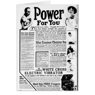 Le vibrateur électrique croisé blanc carte de vœux