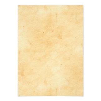 Le vieil arrière - plan de parchemin a souillé le carton d'invitation  12,7 cm x 17,78 cm