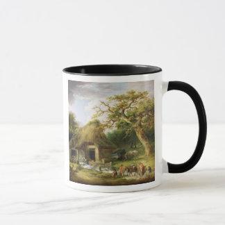 Le vieux moulin à eau, 1790 (huile sur la toile) mug