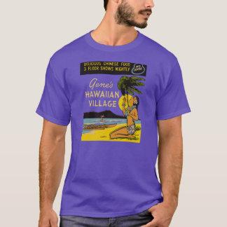 Le village hawaïen du gène (avant et dos) t-shirt