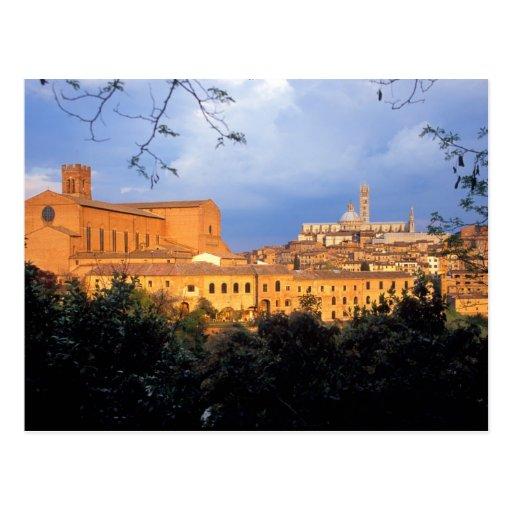 Le village toscan de Sienna, Italie Carte Postale