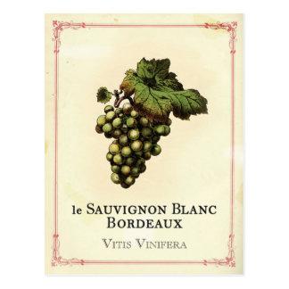 Le Vin Blanc Carte Postale