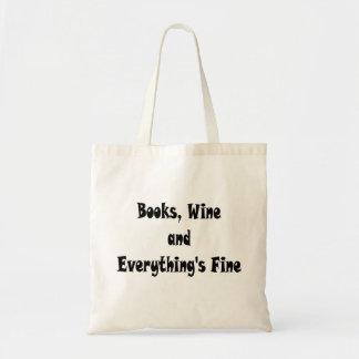 Le vin de livres tout est sac fin