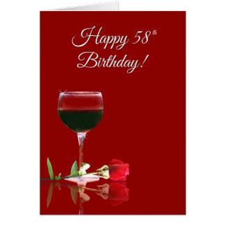 Le vin encourage la carte drôle du joyeux