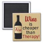 Le vin est meilleur marché que l'aimant carré de t