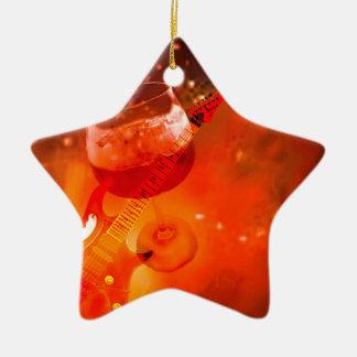 Le vin et la musique sont essentiels dans notre ornement étoile en céramique