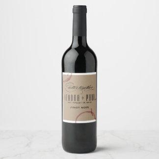 Le vin souille des étiquettes de vin de mariage de