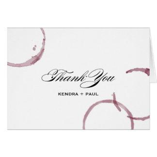Le vin souille le carte de remerciements de