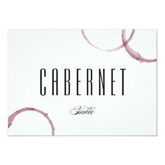 Le vin souille le numéro de carte de Tableau de Carton D'invitation 12,7 Cm X 17,78 Cm