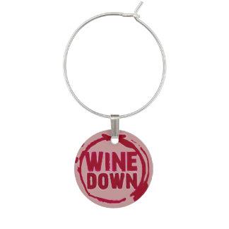 """Le """"vin vers le bas"""" wine étiquette de sayin marque-verres"""