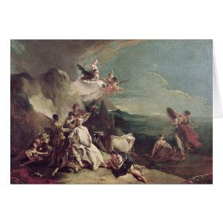 Le viol de l'Europa, 1720-21 Carte De Vœux