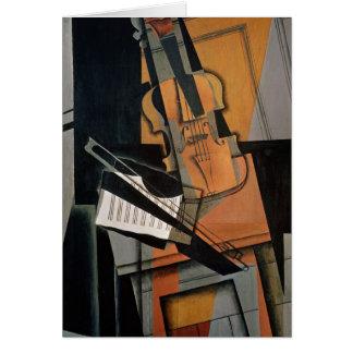 Le violon, 1916 carte de vœux