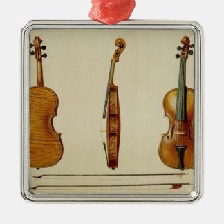 Le violon de Hellier fait par Antonio Stradivarius Ornement Carré Argenté