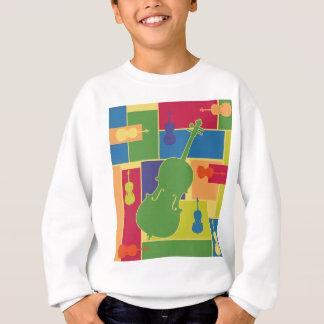 Le violoncelle Colorblocks badine le sweatshirt