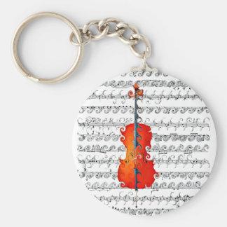 Le violoncelle et moi basculent ! _ porte-clefs
