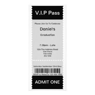 Le VIP passent le billet d admission de fête de re Faire-part