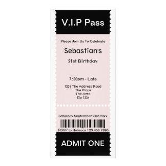 Le VIP passent le billet d admission de partie Cartons D'invitation