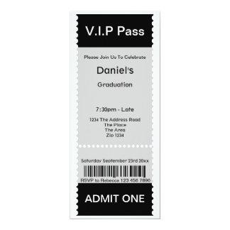 Le VIP passent le billet d'admission de fête de Carton D'invitation 10,16 Cm X 23,49 Cm