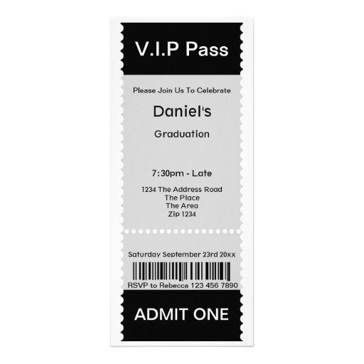 Le VIP passent le billet d'admission de fête de re Faire-part